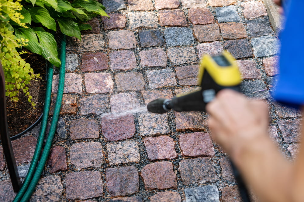 Can I Power Wash My Natural Stone Walkway?